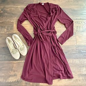 Old Navy Long Sleeve Wrap Dress Sz S